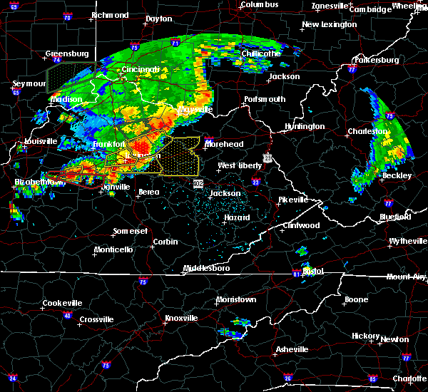 Radar Image for Severe Thunderstorms near Stanton, KY at 7/20/2018 4:29 PM EDT