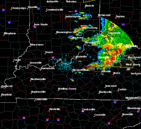 Radar Image for Severe Thunderstorms near Willisburg, KY at 7/20/2018 4:29 PM EDT