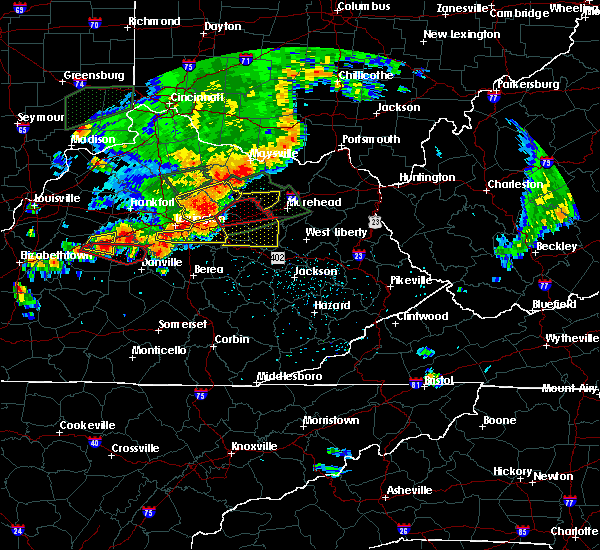 Radar Image for Severe Thunderstorms near Mount Sterling, KY at 7/20/2018 4:35 PM EDT