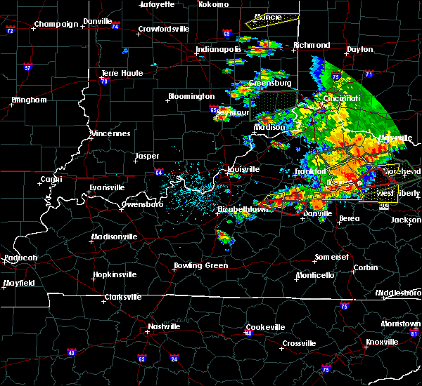 Radar Image for Severe Thunderstorms near Harrodsburg, KY at 7/20/2018 4:39 PM EDT