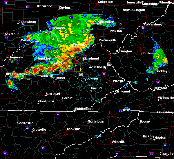 Radar Image for Severe Thunderstorms near Stanton, KY at 7/20/2018 4:51 PM EDT