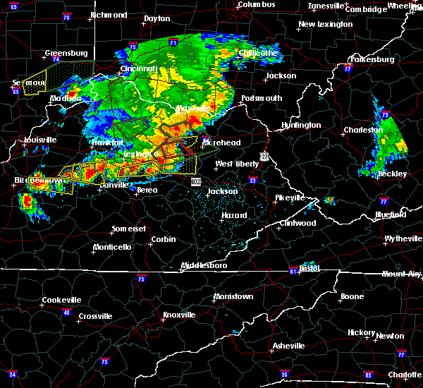 Radar Image for Severe Thunderstorms near Jeffersonville, KY at 7/20/2018 5:00 PM EDT