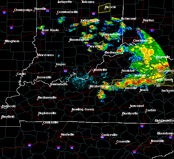 Radar Image for Severe Thunderstorms near Springfield, KY at 7/20/2018 5:12 PM EDT