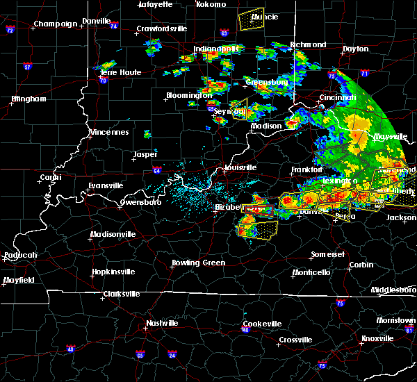 Radar Image for Severe Thunderstorms near Campbellsville, KY at 7/20/2018 5:25 PM EDT