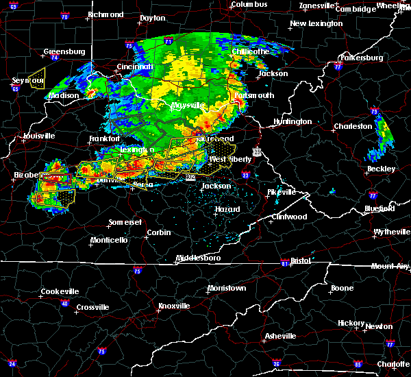Radar Image for Severe Thunderstorms near Richmond, KY at 7/20/2018 5:25 PM EDT