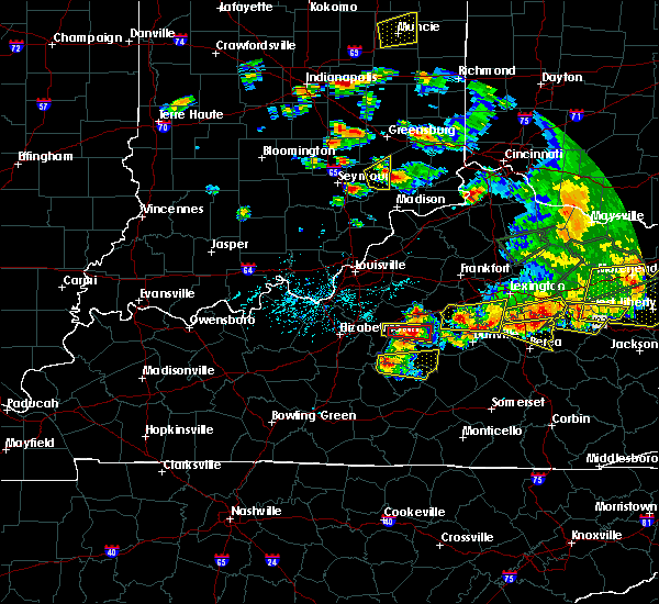 Radar Image for Severe Thunderstorms near Springfield, KY at 7/20/2018 5:27 PM EDT