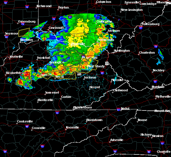 Radar Image for Severe Thunderstorms near Stanton, KY at 7/20/2018 5:37 PM EDT