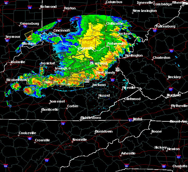 Radar Image for Severe Thunderstorms near Richmond, KY at 7/20/2018 5:53 PM EDT