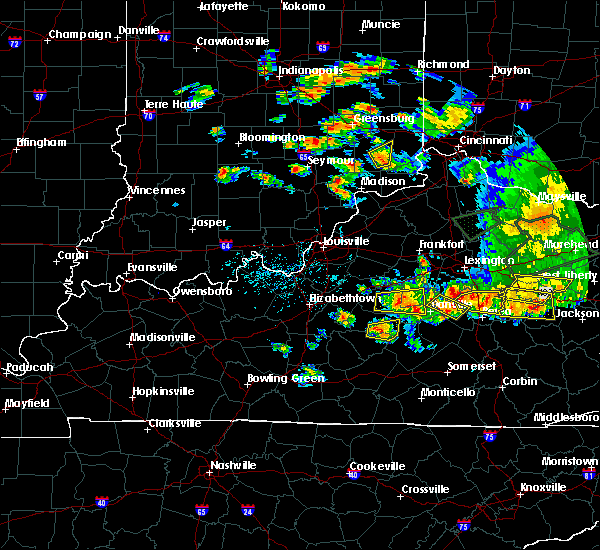 Radar Image for Severe Thunderstorms near Danville, KY at 7/20/2018 5:56 PM EDT