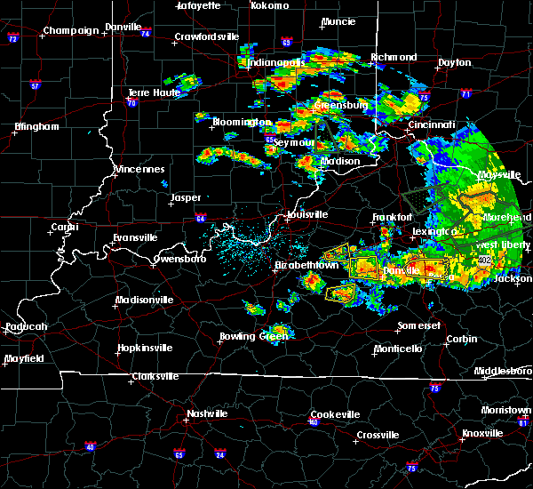 Radar Image for Severe Thunderstorms near Willisburg, KY at 7/20/2018 6:05 PM EDT