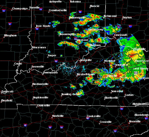 Radar Image for Severe Thunderstorms near Loretto, KY at 7/20/2018 6:08 PM EDT