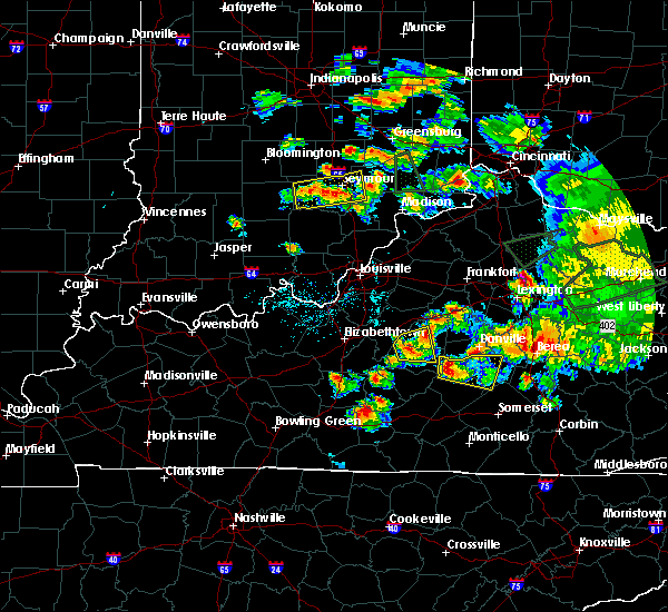 Radar Image for Severe Thunderstorms near Loretto, KY at 7/20/2018 6:20 PM EDT