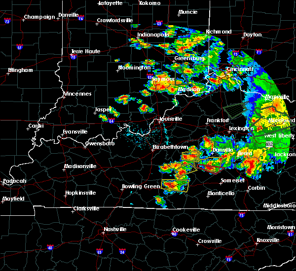 Radar Image for Severe Thunderstorms near Campbellsville, KY at 7/20/2018 6:48 PM EDT