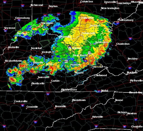 Radar Image for Severe Thunderstorms near Eubank, KY at 7/20/2018 6:52 PM EDT