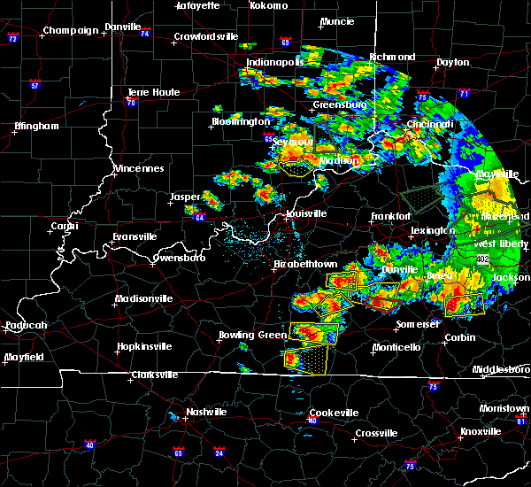 Radar Image for Severe Thunderstorms near Hanover, IN at 7/20/2018 6:57 PM EDT