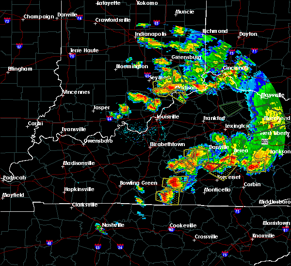 Radar Image for Severe Thunderstorms near Danville, KY at 7/20/2018 7:10 PM EDT