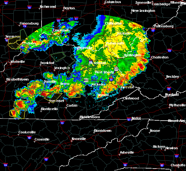 Radar Image for Severe Thunderstorms near Eubank, KY at 7/20/2018 7:10 PM EDT