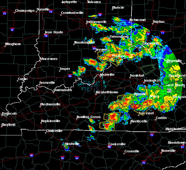 Radar Image for Severe Thunderstorms near Carrollton, KY at 7/20/2018 7:13 PM EDT