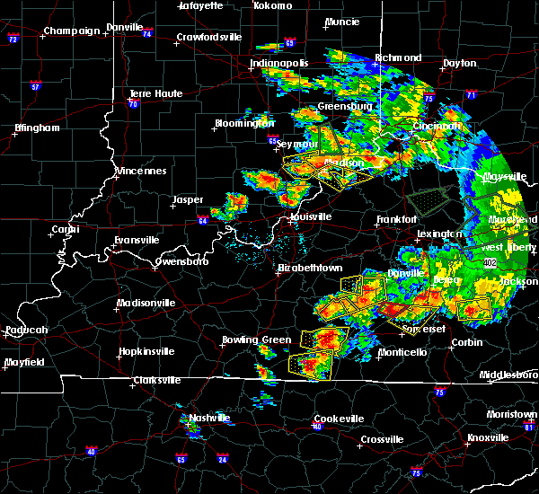 Radar Image for Severe Thunderstorms near Campbellsville, KY at 7/20/2018 7:19 PM EDT