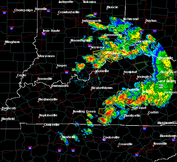 Radar Image for Severe Thunderstorms near Utica, KY at 7/20/2018 7:22 PM EDT
