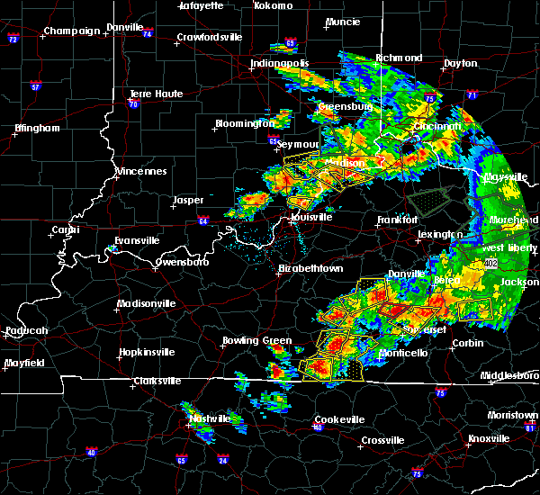 Radar Image for Severe Thunderstorms near Campbellsville, KY at 7/20/2018 7:28 PM EDT