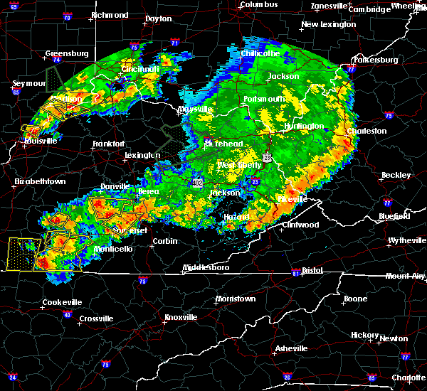 Radar Image for Severe Thunderstorms near Eubank, KY at 7/20/2018 7:34 PM EDT