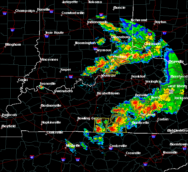 Radar Image for Severe Thunderstorms near Carrollton, KY at 7/20/2018 7:41 PM EDT