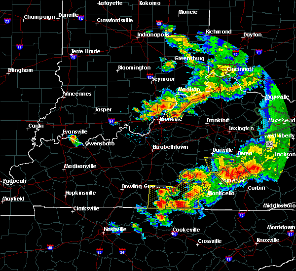 Radar Image for Severe Thunderstorms near Jeffersonville, IN at 7/20/2018 7:50 PM EDT