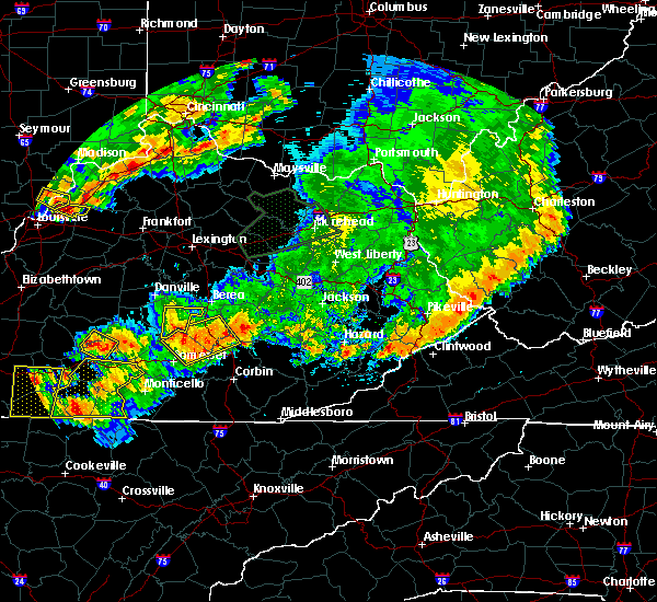 Radar Image for Severe Thunderstorms near Crab Orchard, KY at 7/20/2018 7:50 PM EDT