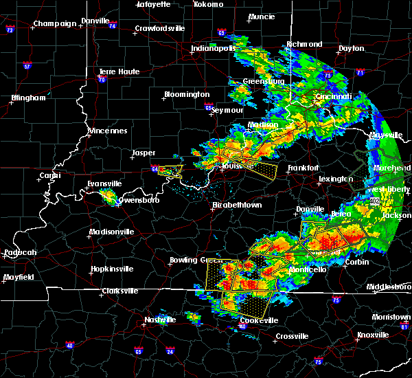 Radar Image for Severe Thunderstorms near Columbia, KY at 7/20/2018 6:56 PM CDT