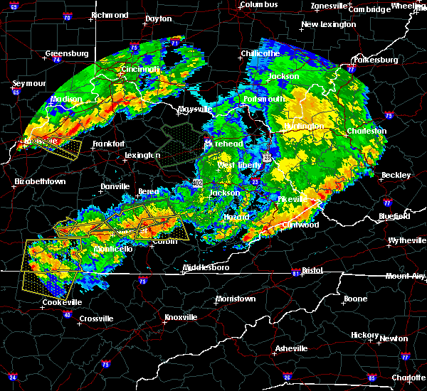 Radar Image for Severe Thunderstorms near London, KY at 7/20/2018 8:12 PM EDT