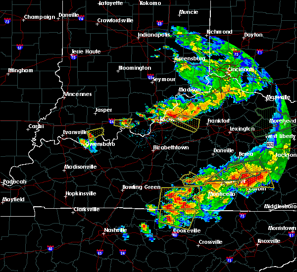 Radar Image for Severe Thunderstorms near Plantation, KY at 7/20/2018 8:12 PM EDT