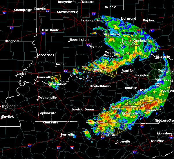 Radar Image for Severe Thunderstorms near Russell Springs, KY at 7/20/2018 7:21 PM CDT