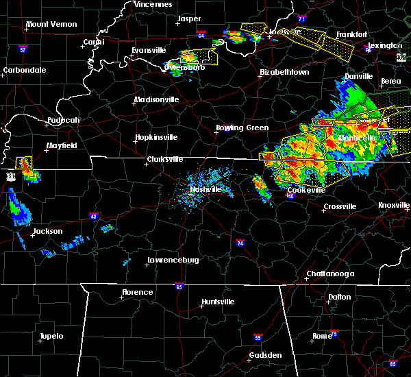 Radar Image for Severe Thunderstorms near Tompkinsville, KY at 7/20/2018 7:30 PM CDT