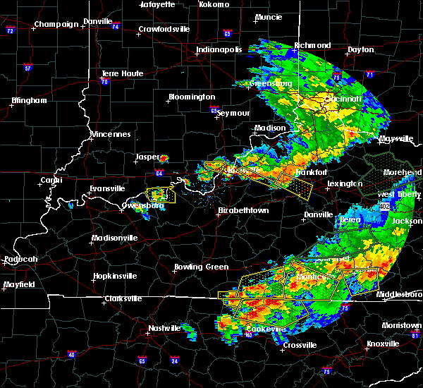 Radar Image for Severe Thunderstorms near Greenville, IN at 7/20/2018 8:36 PM EDT