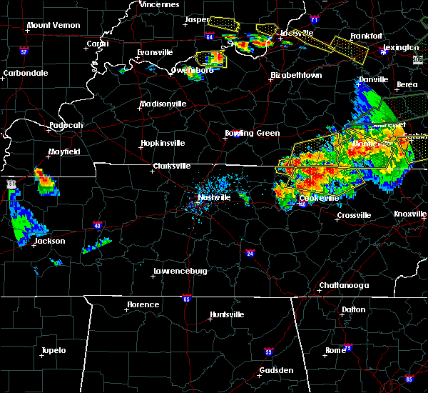 Radar Image for Severe Thunderstorms near Tompkinsville, KY at 7/20/2018 7:42 PM CDT