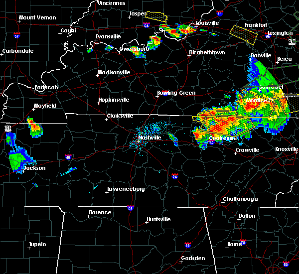 Radar Image for Severe Thunderstorms near Albany, KY at 7/20/2018 7:48 PM CDT