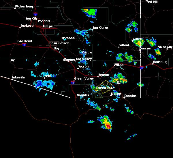Radar Image for Severe Thunderstorms near Sierra Vista Southeast, AZ at 7/20/2018 6:13 PM MST