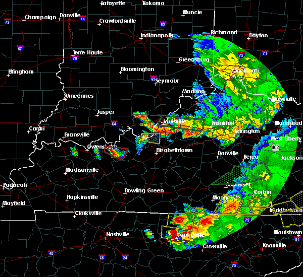 Radar Image for Severe Thunderstorms near Doe Valley, KY at 7/20/2018 9:14 PM EDT