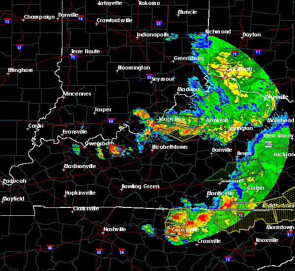 Radar Image for Severe Thunderstorms near Greenville, IN at 7/20/2018 9:23 PM EDT
