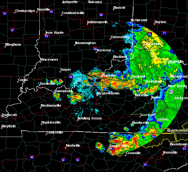 Radar Image for Severe Thunderstorms near Utica, KY at 7/20/2018 9:35 PM EDT