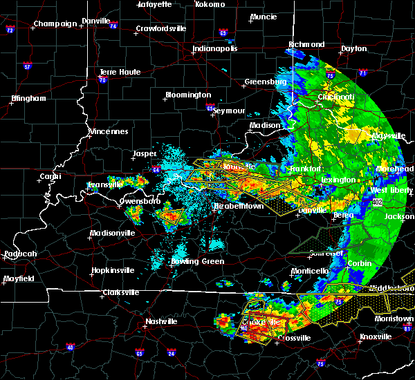 Radar Image for Severe Thunderstorms near Willisburg, KY at 7/20/2018 9:45 PM EDT