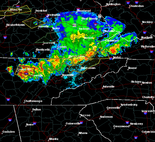 Radar Image for Severe Thunderstorms near Kingsport, TN at 7/20/2018 9:48 PM EDT