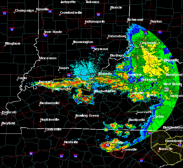 Radar Image for Severe Thunderstorms near Doe Valley, KY at 7/20/2018 10:22 PM EDT