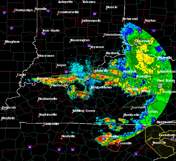 Radar Image for Severe Thunderstorms near Irvington, KY at 7/20/2018 10:22 PM EDT