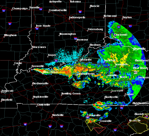 Radar Image for Severe Thunderstorms near Irvington, KY at 7/20/2018 10:00 PM CDT
