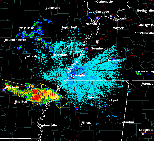 Radar Image for Severe Thunderstorms near Marks, MS at 7/20/2018 10:09 PM CDT