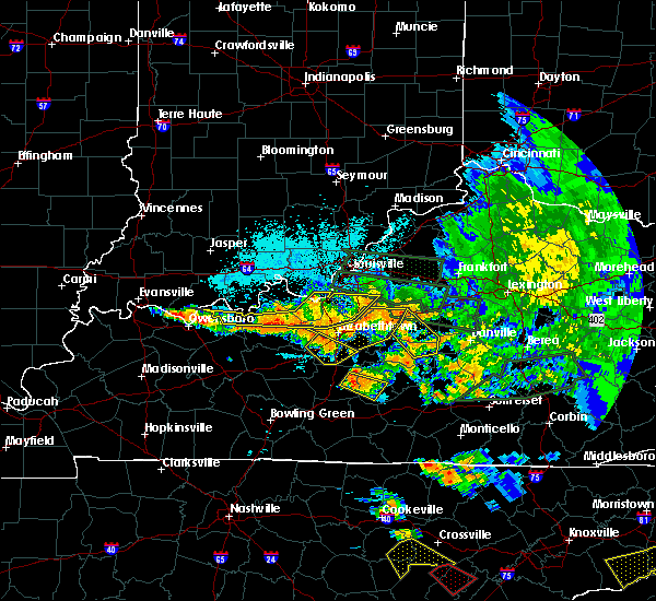 Radar Image for Severe Thunderstorms near Springfield, KY at 7/20/2018 11:19 PM EDT