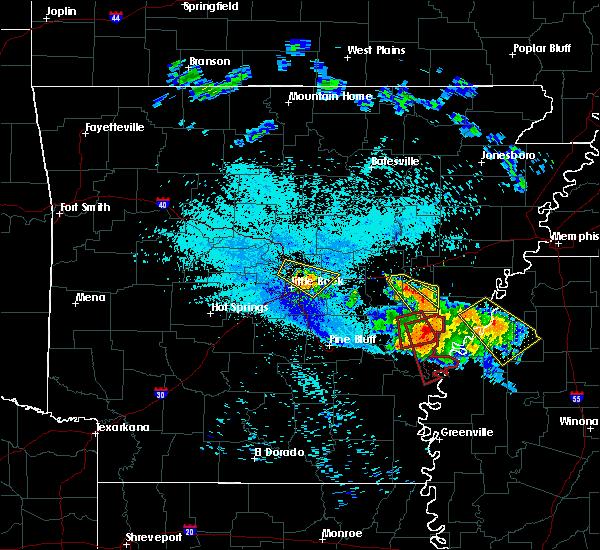 Radar Image for Severe Thunderstorms near Alligator, MS at 7/20/2018 10:25 PM CDT