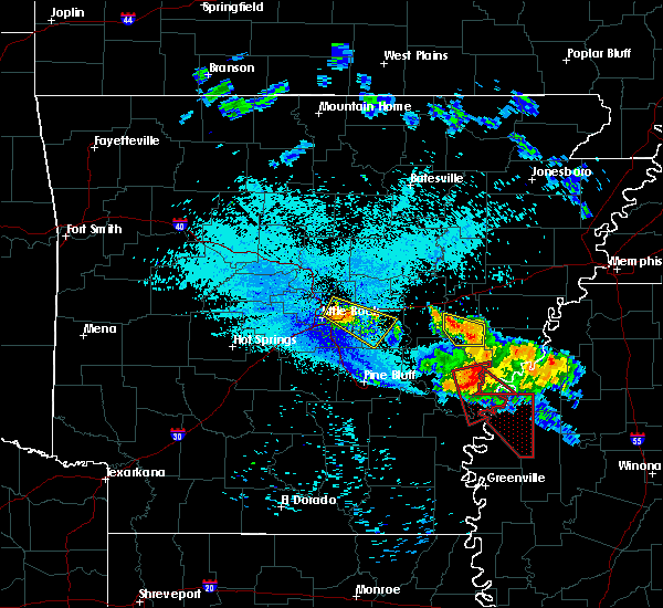 Radar Image for Severe Thunderstorms near Mound Bayou, MS at 7/20/2018 10:35 PM CDT